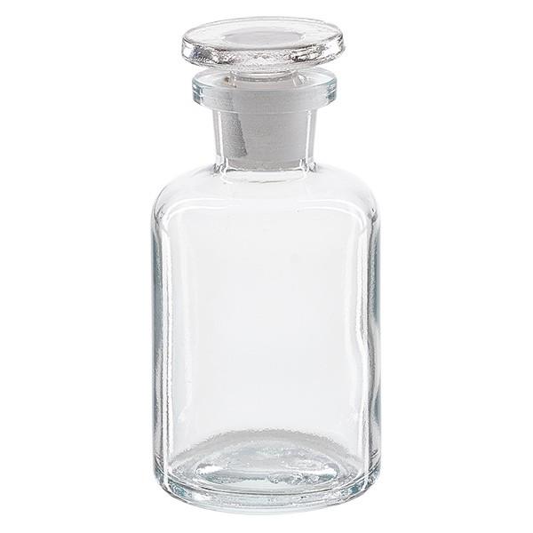 Flacon pharmaceutique 50 ml col étroit en verre clair + bouchon