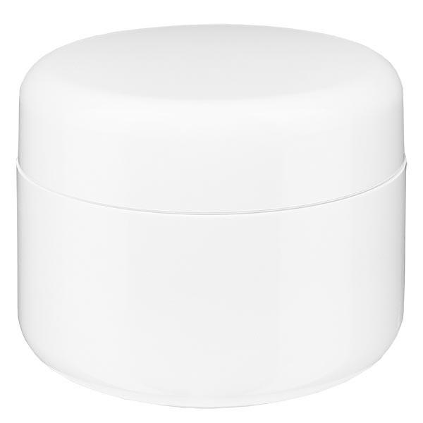"""Pot de crème blanc """"Softline"""" 50 ml + couvercle à vis et opercule"""