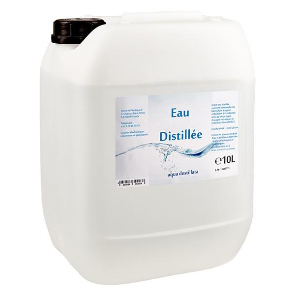 Eau distillée - Aqua dest 10 litres en jerrican premium teinte naturelle