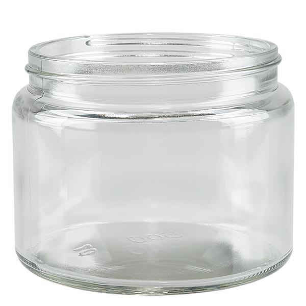Pot en VERRE CLAIR 500 ml, filetage 100 mm / R3