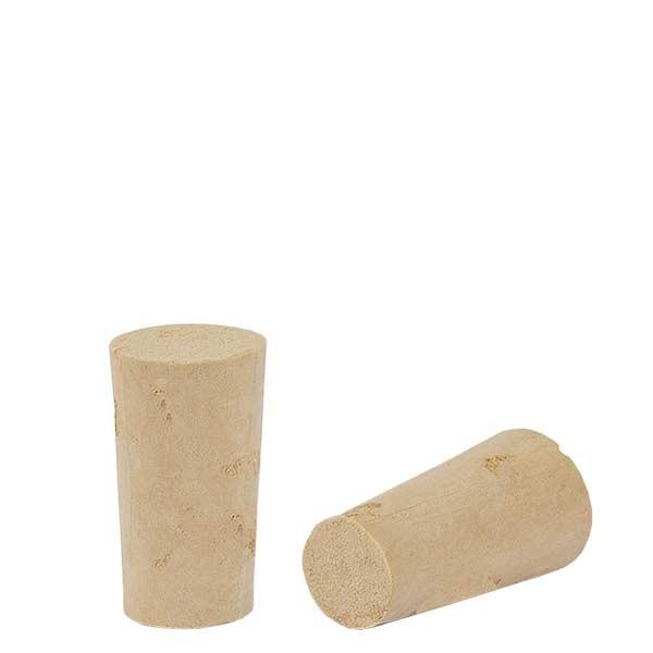 Bouchon de liège naturel (conique) 9/12mm, hauteur 21,5mm