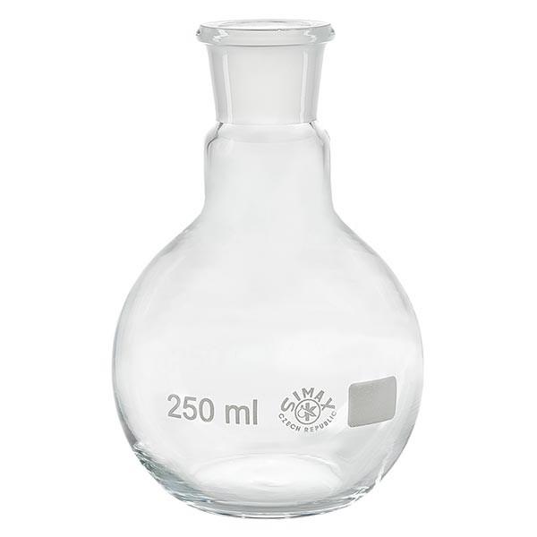 Ballon à fond plat 250 ml à col large, en verre borosilicate avec rodage normalisé 29/32