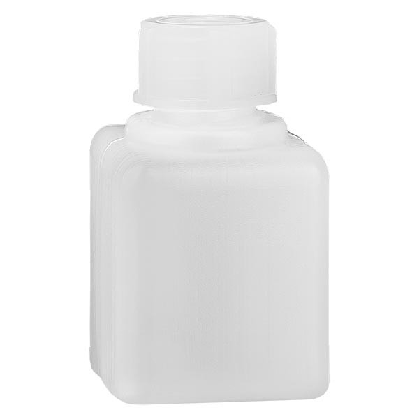 Flacon à produits chimiques 20 ml à col étroit, PEHD couleur naturelle, avec bouchon GL 18