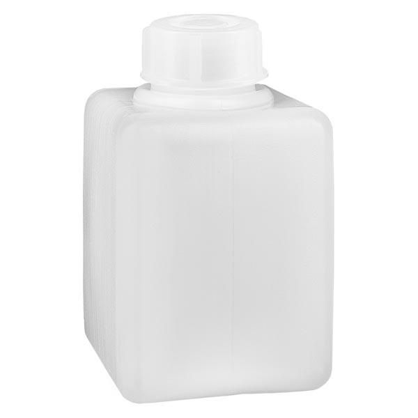 Flacon à produits chimiques 100 ml à col étroit, PEHD couleur naturelle, avec bouchon GL 25