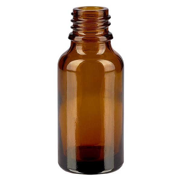 Flacon de pharmacie avec compte-gouttes 20 ml DIN18 - verre ambré