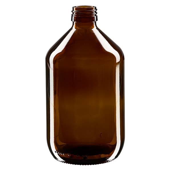 Flacon médical 500 ml couleur ambrée, PP 28