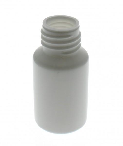 Flacon cylindrique en PET blanc 20 ml, S20x3, sans bouchon