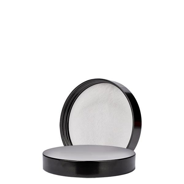 Couvercle à vis en bakélite noire, 51mm/R3