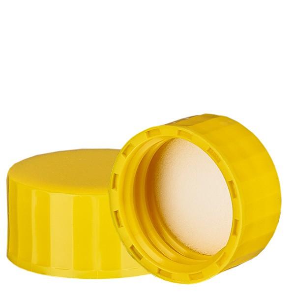 Bouchon à vis jaune avec joint en PE, S27x3