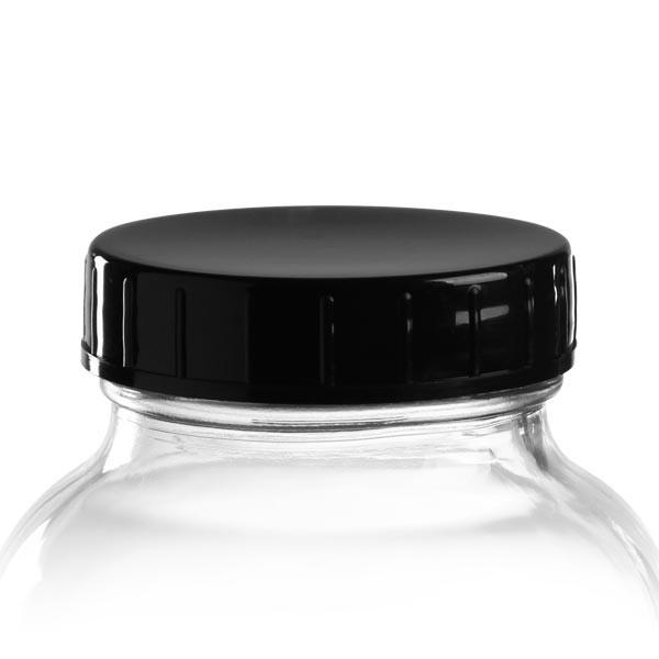Capsule à vis en PP noir 68 mm (DIN 68)
