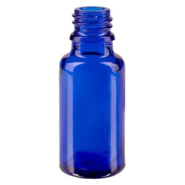 Flacon 20 ml DIN18 - verre bleu
