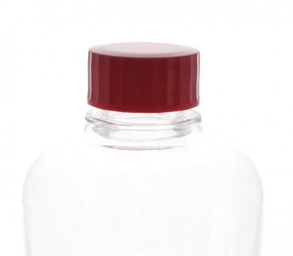 Bouchon à vis rouge avec joint en PE, S27x3