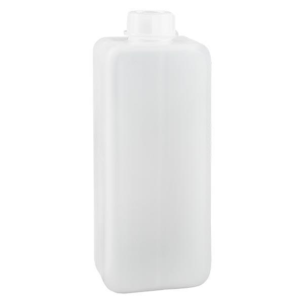 Flacon à produits chimiques 1000 ml à col étroit, PEHD couleur naturelle, avec bouchon GL 32