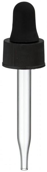 Pipette en verre UNiTWIST noire 13 mm PL48