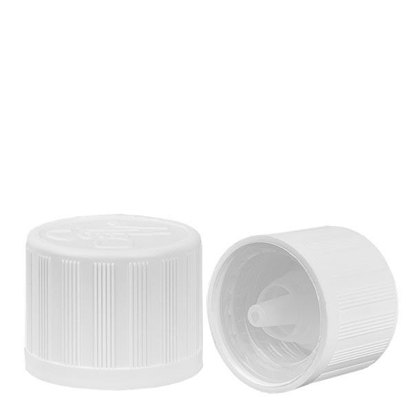 Bouchon compte-gouttes blanc 18mm sécu enfants standard