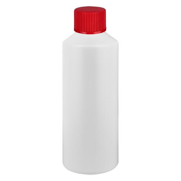 Flacon cylindrique en PET blanc 100 ml, S20x3, sans bouchon