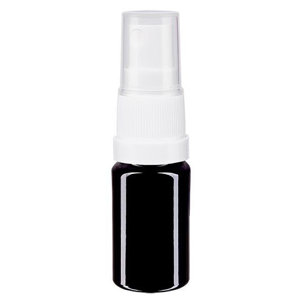 Flacon en verre violet 5 ml DIN18 (verre Miron) avec spray
