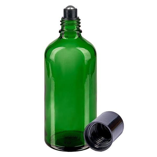 Flacon compte-gouttes vert 100 ml, DIN18