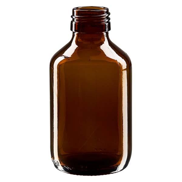 Flacon médical 150 ml couleur ambrée, PP 28