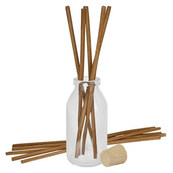 Flacon Round 100ml + 10 bâtons à parfum foncés + bouchon de liège