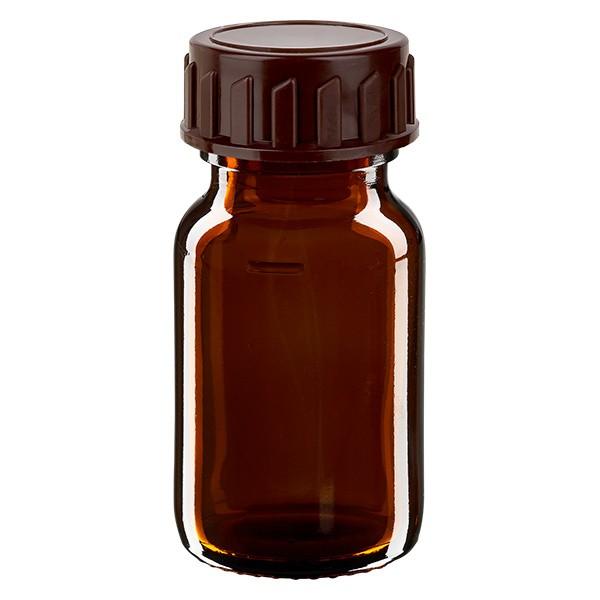 Flacon médical de 30 ml avec bouchon marron
