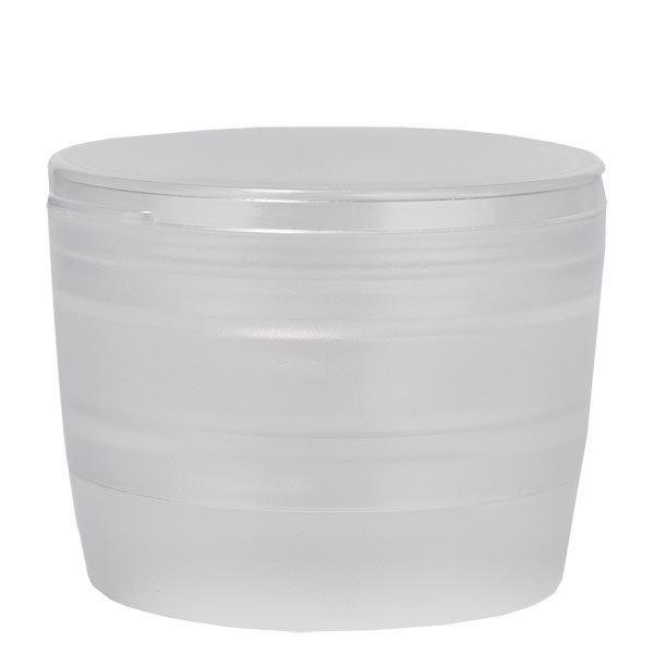 Moulin à visser blanc transparent, broyeur en acrylique, réglable pour un broyage gros ou fin