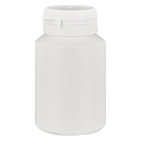 Boîte à comprimés blanche 100ml + Jaycap inviolable blanc