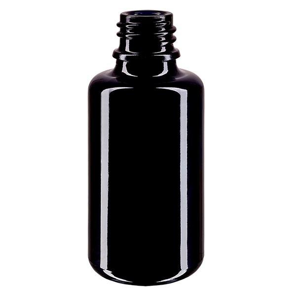 Flacon en verre violet 30 ml DIN18 (verre Miron)