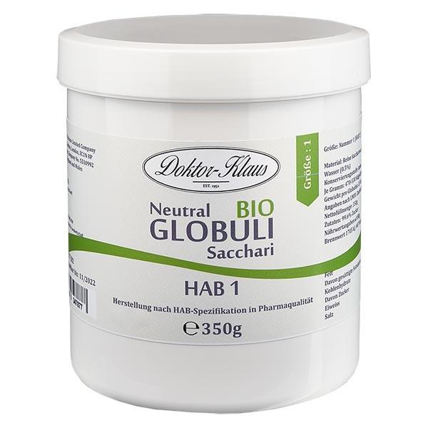 350g globules neutres bio HAB1, 100 % pure saccharose