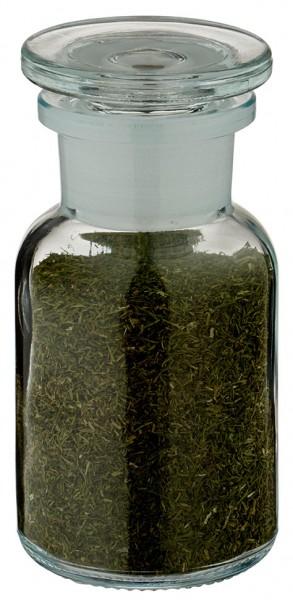Gewürzglas Idee: Apothekerflasche 100 ml Weithals Klarglas inkl. Glasstopfen