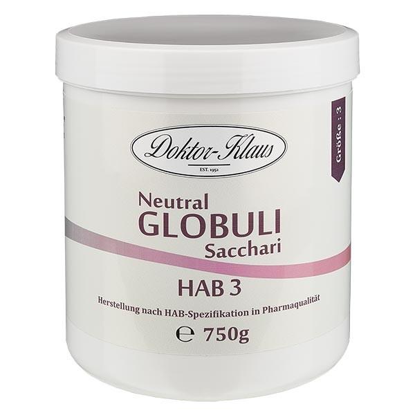 750g globules neutres HAB3, 100 % pure saccharose
