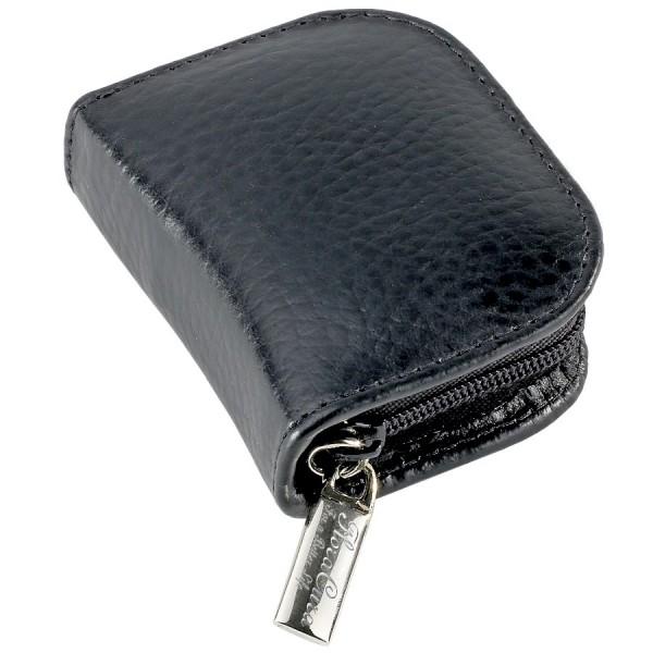 FloraCura Pocket London en vachette noir, pour 10 tubes jusqu'à Ø 9,8mm (VIDE)