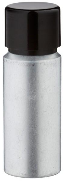 20ml Aluminium-Flasche gebeizt inkl. Schraubkappe schwarz mit Konusdichtung