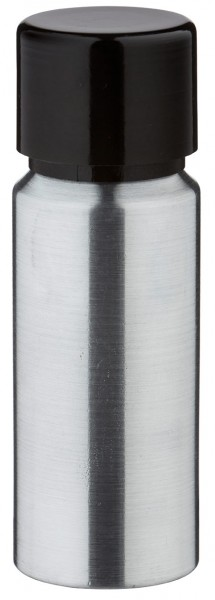 20ml Aluminium-Flasche geschliffen inkl. Schraubkappe schwarz mit Konusdichtung