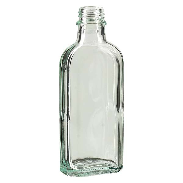 Flasque transparente de 100 ml au goulot DIN 22