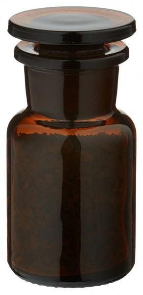 Gewürzglas Idee: Apothekerflasche 50 ml Weithals Braunglas inkl. Glasstopfen