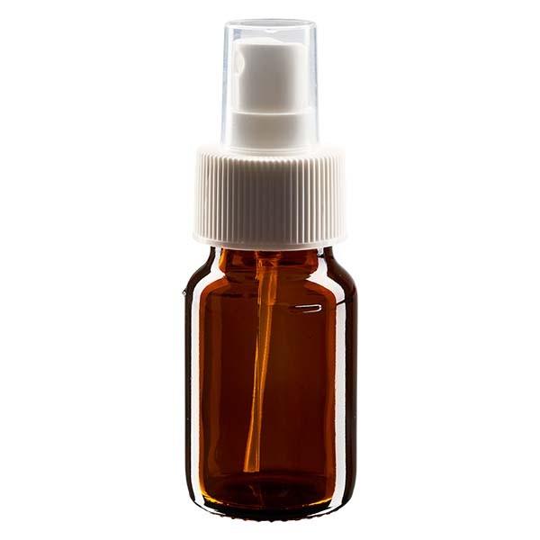 Flacon médical norme européenne de 30 ml avec spray blanc GCMI 28/410 et couvercle transparent, standard