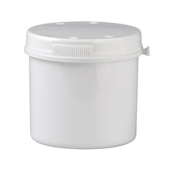 Schraubdose aus Kunststoff (weiss) 375ml inkl. Press-on-Schraubverschluss (weiss)