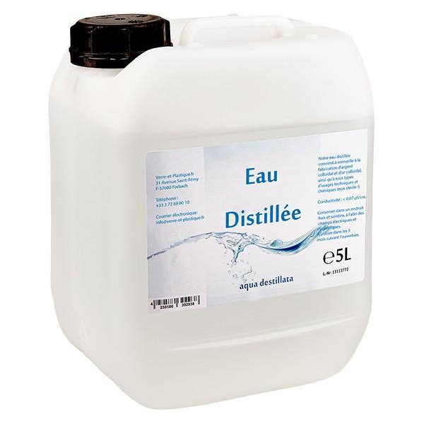 Eau distillée - Aqua dest 5 litres en jerrican premium teinte naturelle