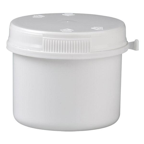 Kunststoffdose 135ml inkl. Press-on-Verschluss aus PP weiss