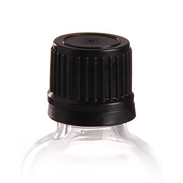 Schraubverschluss Premium m. PE-Dichtung schwarz 18mm OV