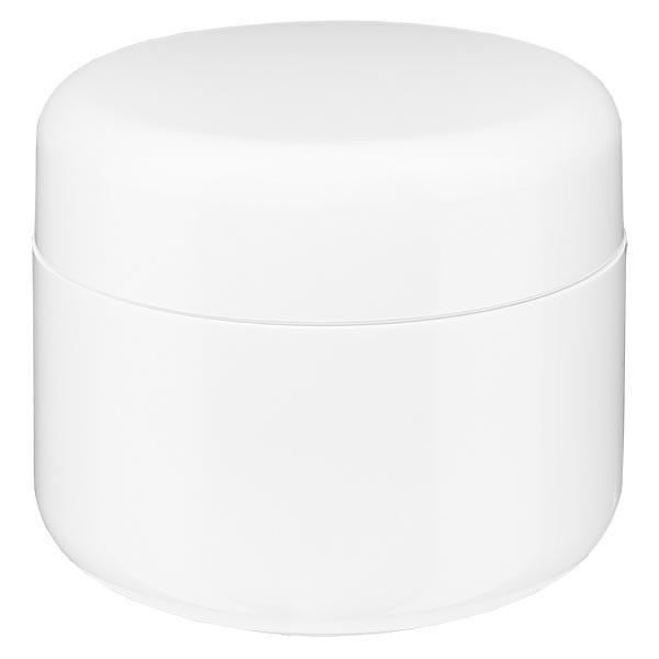 """Pot de crème gris clair """"Softline"""" 15 ml + couvercle à vis et opercule"""