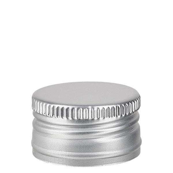 Capsule à vis PP 24 mm, aluminium argenté, standard
