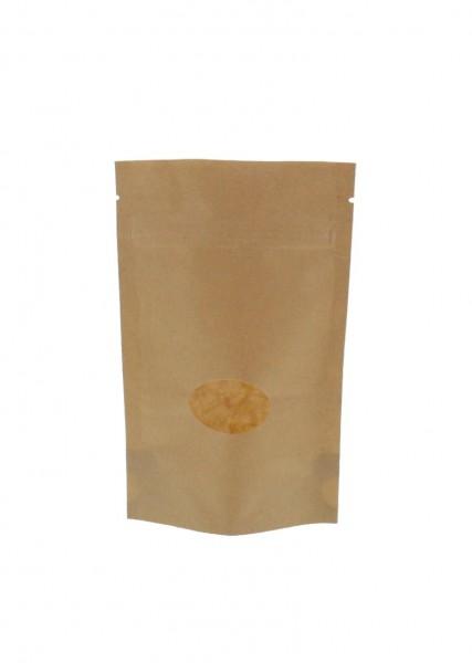 Sachet vertical en papier kraft marron (capacité : environ 70g / 110x170)