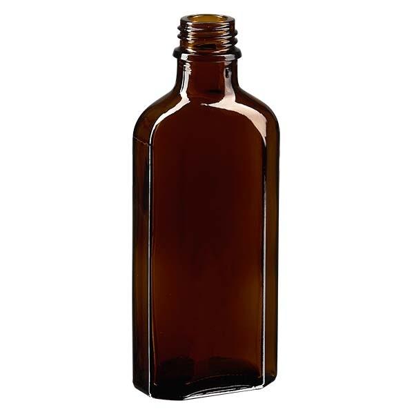 100 ml braune Meplatflasche mit DIN 22 Mündung