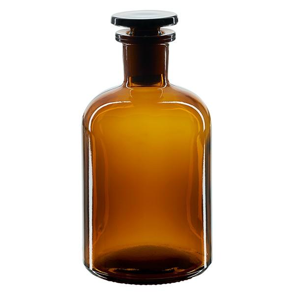 Apothekerflasche 250 ml Enghals Braunglas inkl. Glasstopfen