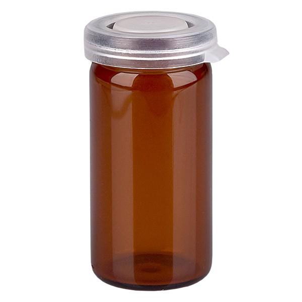 Pot à comprimés 10 ml ambré, avec bouchon à déclic