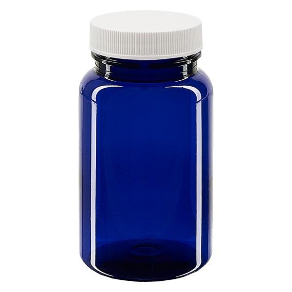 Pot Petpacker bleu cobalt 100 ml, goulot 38 mm avec couvercle étanche SFYP
