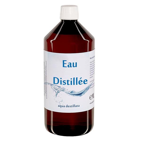 Eau distillée - Aqua dest 1 litre en bouteille PET