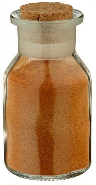 Gewürzglas Idee: 50 ml Steilbrustflasche Weithals Klarglas inkl. Korken